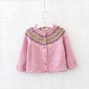 2017 Autumn New Baby Girl Cardigan Retro Style long Sleeve Knitted Cotton Sweater Children Clothes E316580