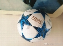 2017 Europe Champions League football Final Cardiff Golden letters white/yellow Stars Anti-skid particles match training Soccer ball size 5
