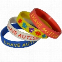 50PCS/Lot I have Autism Silicone Bracelet for Kids, What Better Way To Carry The Message Than With A Daily Reminder