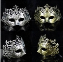 Hot Men Retro Crown Design Masquerade Masks Gold Silver Halloween Party Carnival Half Face Masks Graduation Halloween Celebrations Show Mask