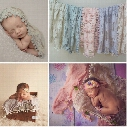 Newborn Baby Tassel Wrap Cloth Photo Photography Prop Outfits Cloth Backdrop Handmade Lace Scarf Baby Photo Props Accessories