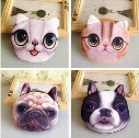 Wholesale- Free ship!1lot=30pc!Cute cat and dog face mini purse /animal bag/cartoon wallet/small pouch/pen bag