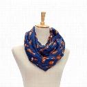 Wholesale-Women Voile Scarf Ladies Fox Pattern Print Wrap Shawl Female Ring Silk Infinity Scarves Loop #OR