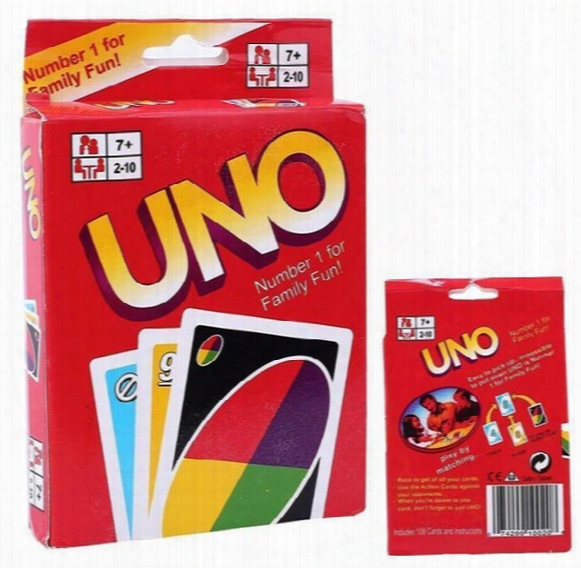 Uno Poker Card Standard Edition Family Fun Entermainment Board Game Kids Funny Puzzle Christmas Game Free Shipping In Stock