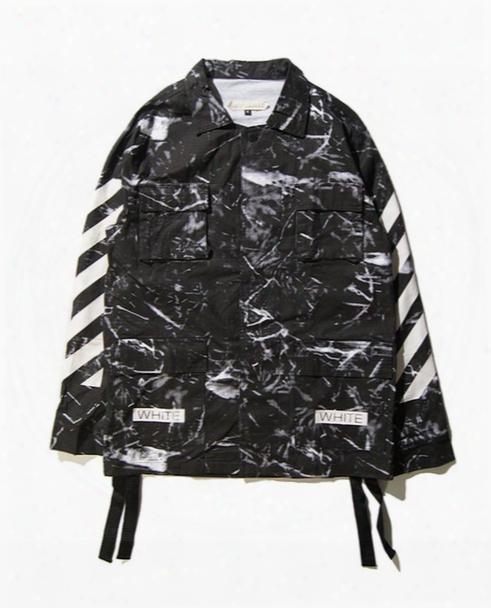 Wholesale Europe And America Men Marble Stripe Printing Thin Casual Loose Jackets Men Cardigan Long Sleeve Sweater Coat