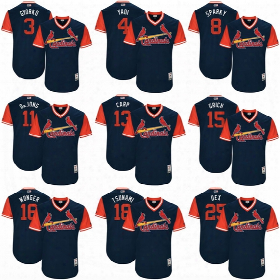2017 Little League World Series Players Weekend Men Lady Kid Cardinals Yadier Molina Yadi Matt Carpenter Carp Dexter Fowler Baseball Jerseys