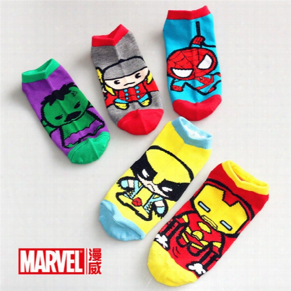 Boys Cartoon Socks Spiderman Superhero Superman Batman Socks Personality Kids Socks 10pairs/lot