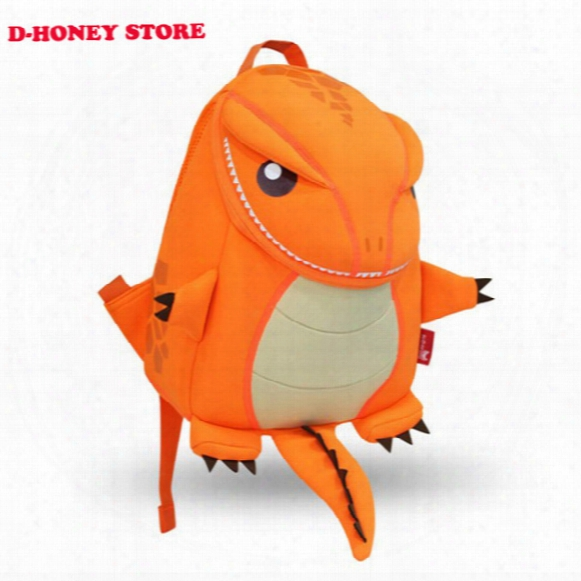 Dinosaur Backpack For Girls And Boys 3d Cartoon Animal Backpack For School Students Cute Schoolbag For Teenagers Travel Bag
