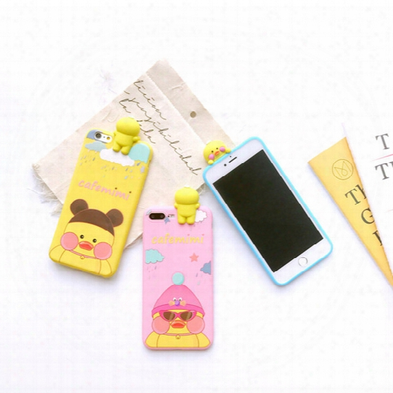 Hot Sell 3d Cute Cases For Iphone 7 Case Clear Silicone Cartoon Bear Phone Back Cover For Iphone 7 Plus 6 6s