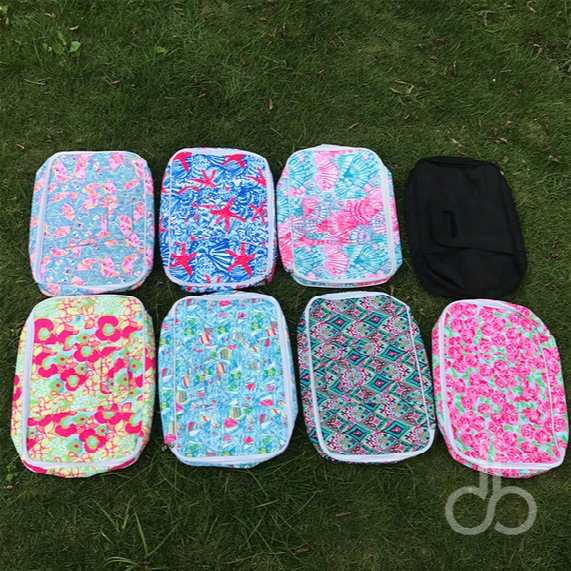 "Lilly Floral Food Carrier Wholesale Blanks 10""*15.5""*3"" Crown Insulated Cooler Bags Rose Casserole Carriers Box In 9 Colors Dom106607"