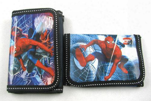 Lots 60pcs Cartoon Spiderman Wallets Purses With 1 Zip