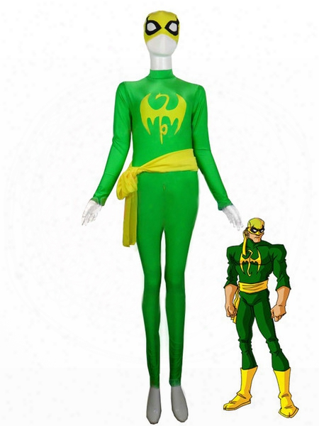 Marvel Comics Iron Fist Costumes Superhero Cosplay Costumes Green Color Party Zentai Suits Elastic Lycar Fabric Classic Design Mcc70