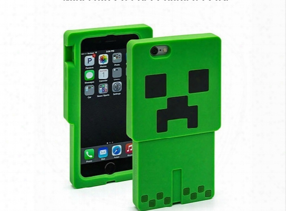Minecraft Creeper Character Case 3d Cartoon Creeper Silicone Case Cover For Iphone5 5s Iphone6 6 Plus Samsun S5 Ipad Mini/mini 2