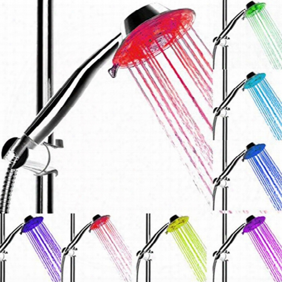 Multiple Colors Automatically Glow Changing Led 2 Modes Shower Head For Bathroom Shower Heads Faucets Good