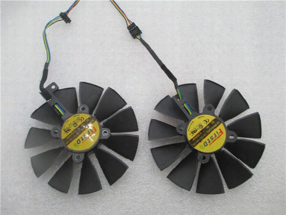 New 95mm Firstdo Fd10015h12s 0.55a 4pin 5pin Cooler Fan For Asus Gtx 970 980 Ti R9 380 Strix Graphics Video Card Cooler Fan