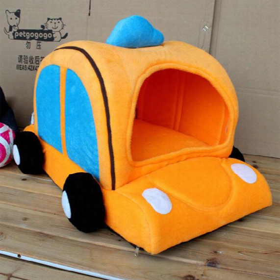 New Fashion Kennel Cat House Taxi Car Pet Waterloo Bed