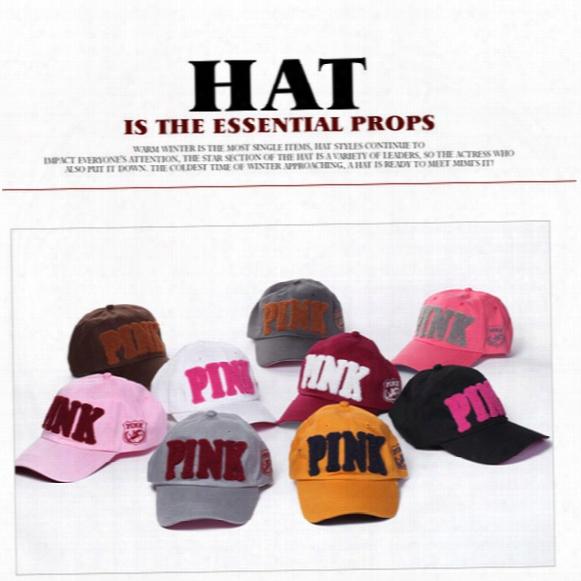 Pink Hat Adult And Big Kids Baseball Cap Summer Sun Hat Snapbackh Ats Sports Hip Hop Flat Sunshine Hat 8 Color