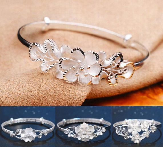 Rose Women Bangle 2017 New 925 Sterling Silfer Bracelet Luxury Brand Charms Carter Jewelry Rose Bangles For Women