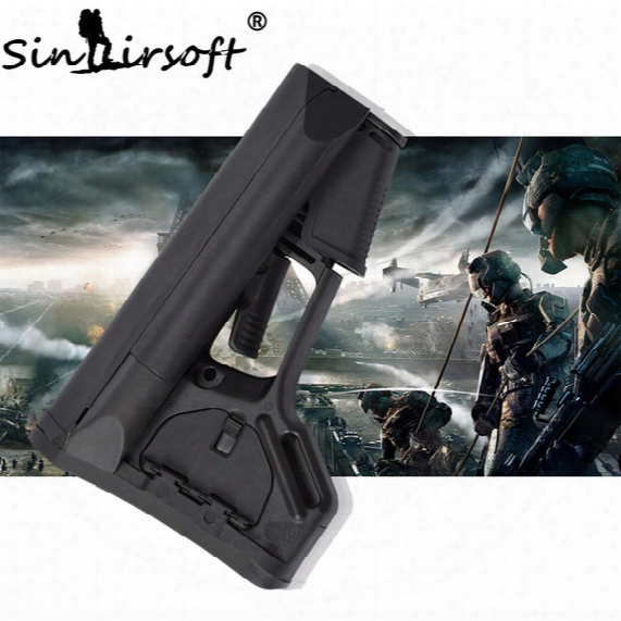 Sinairsoft Perfect Version Stock Carbine Buttstock With Rubber Pad For Airsoft Ar15/m4 Carbines Using Commercial-spec Buffer Tube Wargame