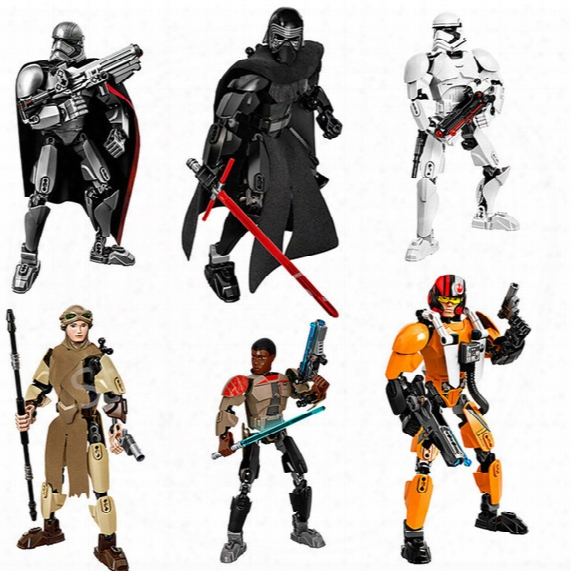 Space Wars Action The Force Awaken Building Blocks Figures Kylo Ren Captain Phasma Rey Poe Dameron Finn Stormtrooper Space Wars Figures