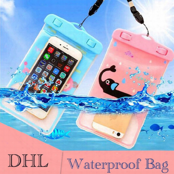 Summer Waterproof Case Bag Pvc Carton Dry Bag Protective Universal Phone Bag Pouch Bags For Diving Swimming For Smart Phone Over 5.8 Inch