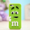 "Cute 3D Cartoon Silicone M&M""s Fragrance Chocolate Rainbow Beans Phone Cases For iPhone 4 4S 5 5S SE 6 6s 7 plus Rubber Cover"