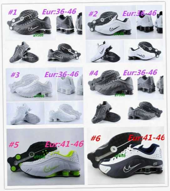 Wholesale-2016 Wholesale New Shox Current R4 Lighter Running Shoes,oz Casual Zapatos Hombre Shox Nz Scarpe Donna Men Women's Size 36-46