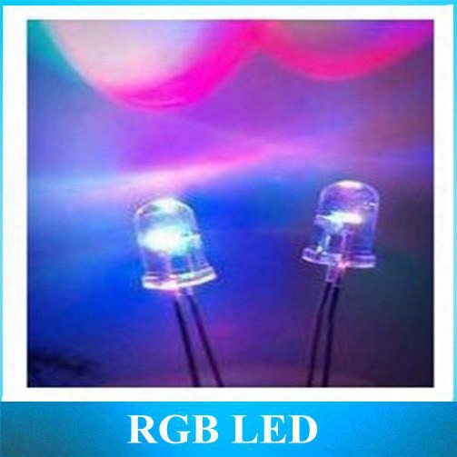 Wholesale-5mm Colorful Slow Flash Led F5 Red Green Blue Rgb Automatically Change Color Led Lamp Beads 1000pcs