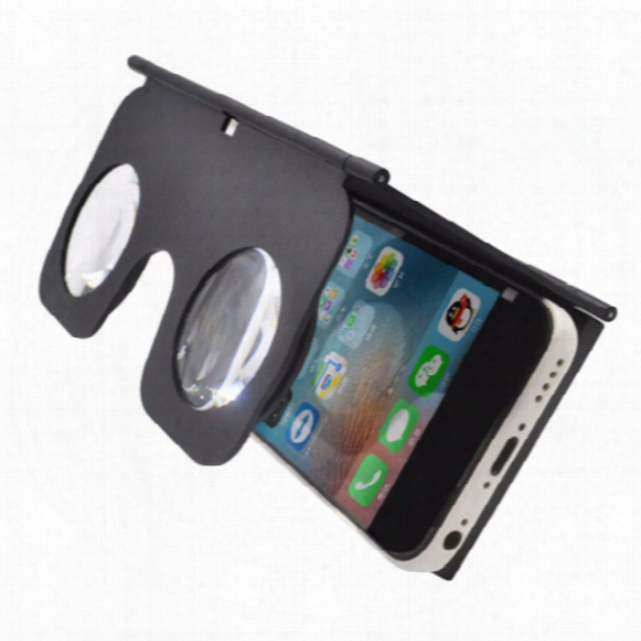 Wholesale- Vr Fold Foldable Vr Virtual Reality 3d Glasses Cardboard Vr Box Phone Holder Suitable For 3.5-6 Inch Smart Mobile Phone