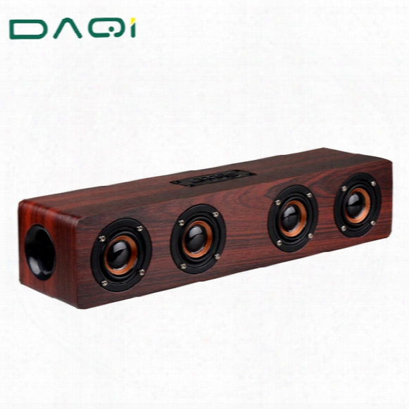 Wholesale- Wooden High Power Outdoor Bluetooth Speaker Wireless Stereo Super Bass Subwoofer Dancing Loudspeaker With Fm Radio Sound Car
