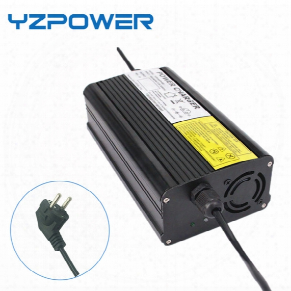 Yzpower Auto-stop 50.4v 6a Lithium Battery Charger For 44.4v Li-ion Lipo Battery Pack Cooling With Fan Inside