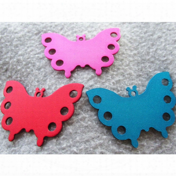 100pcs/lot Butterfly Blank Pet Dog Identity Tags Dog Cat Id Tags Pendants For Pet Collar