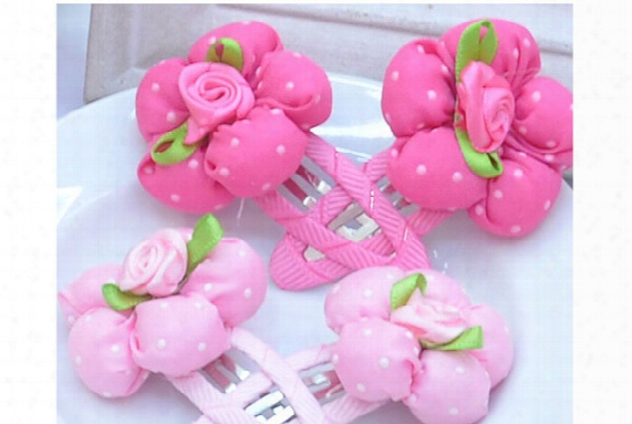 2015 Hot Sale New High-end Korean Fashion Fabric Flower Hair Girls Hairpins Children Cartoon Hair Barrettes Princess Hair Clips