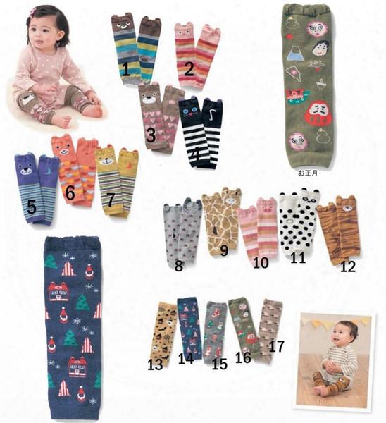2016 Kids Cartoon Socks Baby Boys Girls Toddler Leg Warmers Striped Leg Warmers Baby Socks Knee High Leg Warmer Cotton Free Ups Shipping