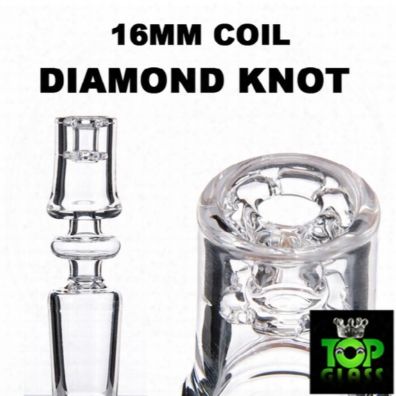 2016 Newest! Electric Diamond Knot Quartz Domeless Nail With 10/14/19mm Male&female Joint And 15.5mm Bowl Dia Enail 100% Real Quart