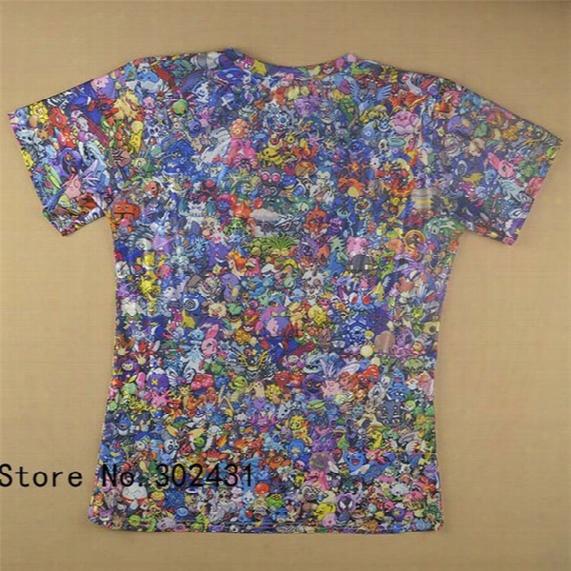 Alisister 2015 New Fashion Shirt Tops Women/men Cartoon Peluche Collage 3d T Shirt Print Funny Tshirts Plus Size