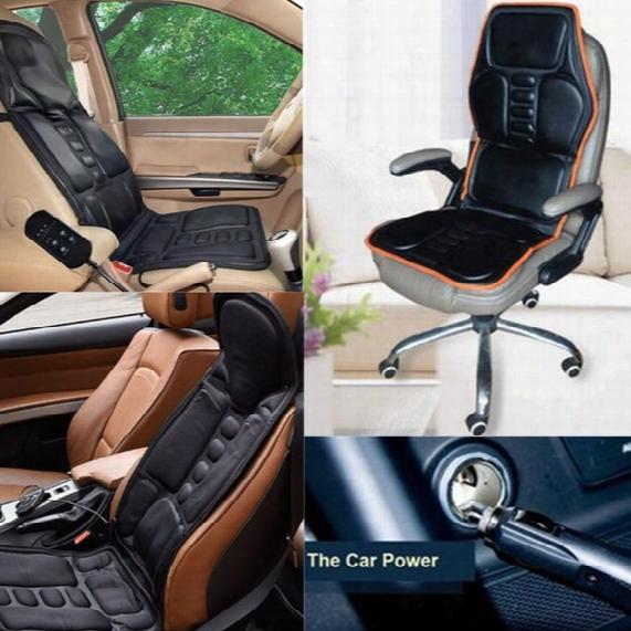 Car Chair Body Massage Heat Mat Seat Cushion Neck Pain Lumbar Support Pad Back Massager