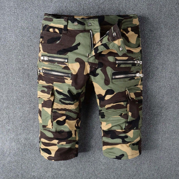 Cargo Shorts Men Hot Sale Casual Camouflage Mens Robins Shorts Summer Brand Clothing Cotton Fashion Army Work Shorts For Men Plus Size 30-42
