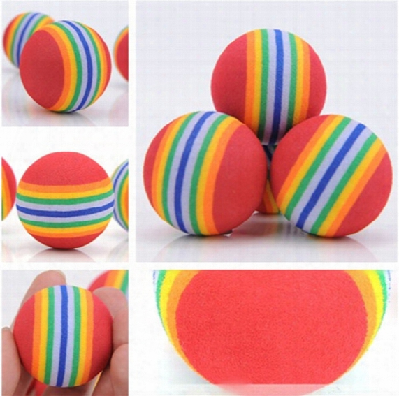 Diameter 35mm Interesting Pet Toy Dog And Cat Toys Super Cute Rainbow Ball Toy Cartoon Plush Toy Ia602