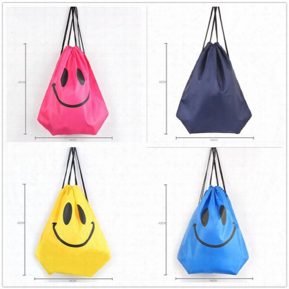 Fashion Cute Emoji Drawstring Bags For Women Mens Children Cartoon Unisex Emoji Backpacks Fashion Smile Printed Student Bags D763