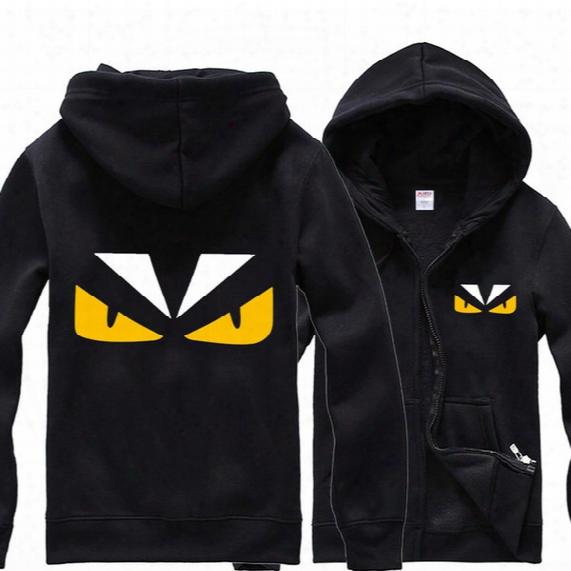 Free Shipping Anime Little Monster Costume Zip Hoodie Sweatshirt Hooded Cartoon Coat