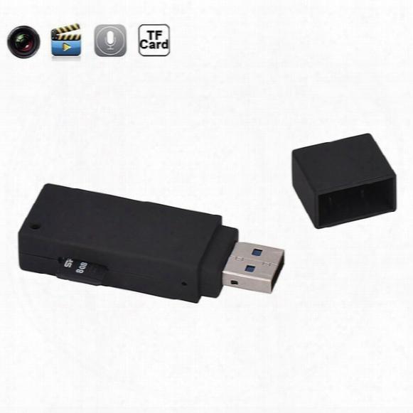 Hidden Camera 1080p Mini Spy U-disk Camera Portable Hd Dvr Usb Card Flash Drive Spy Nonporous Camera Video Recorder