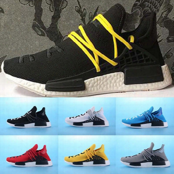 New Nmd Human Race Williams Pharrell X Nmd Humanrace People Racing Shoes Humanrace White Black Yellow Shoeslace Nmd Running Shoes Eur 36-45