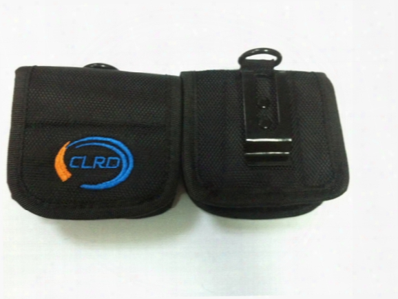 Soft Nylon Carry Pouch For 4pcs 18650 Batteries Nylon Carry Case Belt Holsters With Clip -black Color