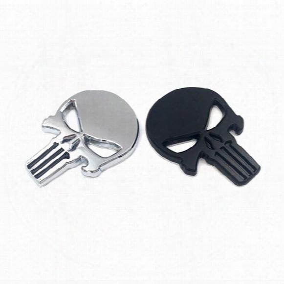 The Punisher Body Badge 3d Skull Sticker Metal Auto Emblem For Infiniti The Whole Body Q40q50 Qx80 Fx35 G25 Q70 Qx60 Car-styling
