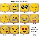 Coin Purses Cute Lovely Emoji Smiley purse Cartoon Facial QQ Expression Cushion Pillows Yellow Round Stuffed wallet