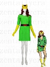 Green & Yellow X-men Phoenix / Marvel Girl Spandex Superhero Costume Party Halloween carnival costumes