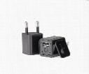 HD 1080 USB Charger Spy Camera DVR US EU AC Adapter Plug Camera Mini DV Hidden Video Recording While Charging Support Memory Card Slot M1S