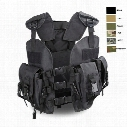 Outdoor Sports Outdoor Camouflage Body Armor Combat Assault Waistcoat Tactical Molle Vest Plate Carrier Vest NO06-008