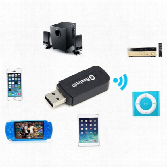 Usb Wireless 3.5mm Music Audio Car Handsfree Bluetooth Receiver Adapter